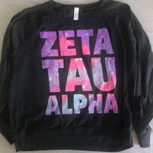 Zeta Tau Alpha galaxy print tee